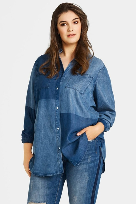 Blouse Zizzi Miriam denim