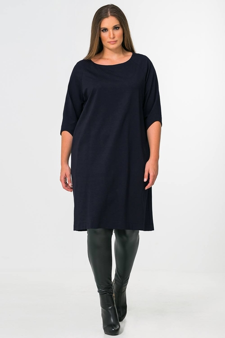 Jurk Mat fashion basic 3/4 mouw