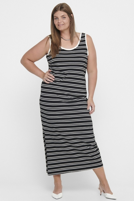 Jurk NEWSCAN ONLY C maxi streep