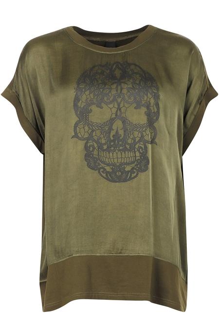 Adia shirt skull opdruk satijn look