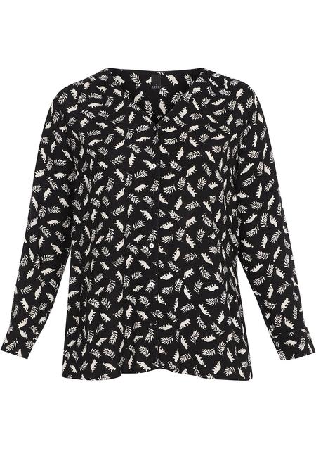 Adia blouse animal print V hals