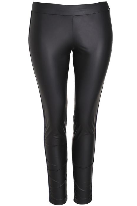 Broek Mat fashion leatherlook zijbie