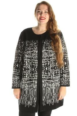 Vest Chalou zwart wit print