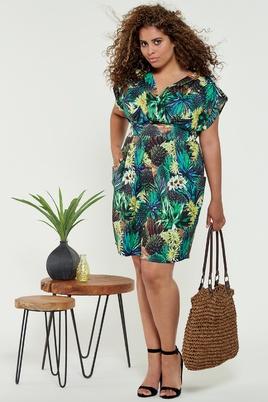 Jurk La Lemon tropical print