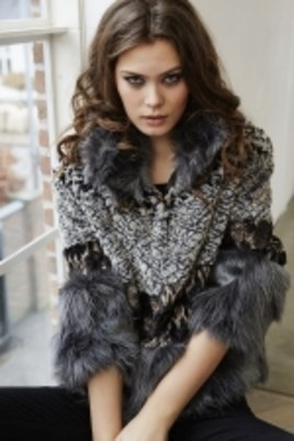 Jas Etage multi fake fur kort