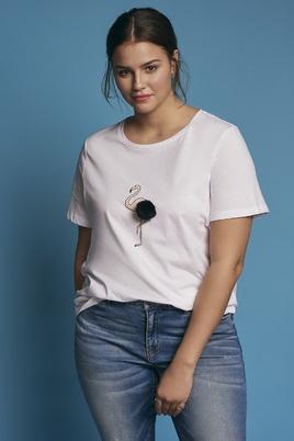 Shirt Junarose Flamingo opdruk