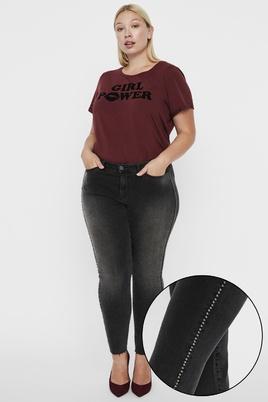 Jeans Junarose FIVE cropped studs