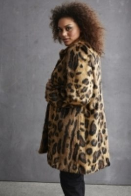 Jas Etage fake fur animal print