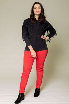 Broek October 5 pocket rood