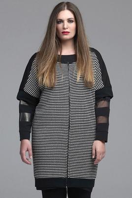 Vest Mat fashion zwart wit ruitje