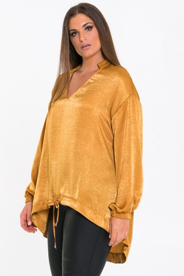 Blouse Mat fashion satijn A lijn
