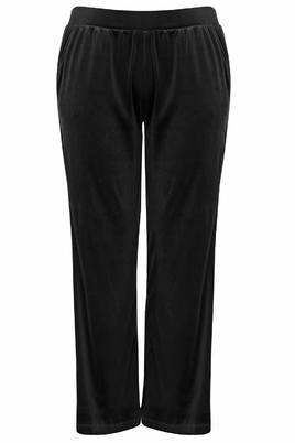 Broek Mat fashion velour zijbies