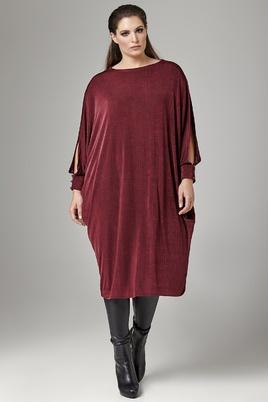 Jurk Mat fashion wijd slinky