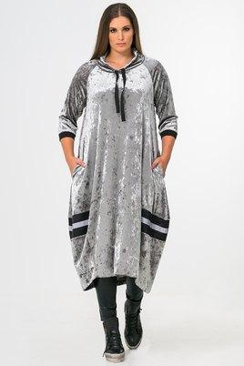 Jurk Mat fashion velour bolling