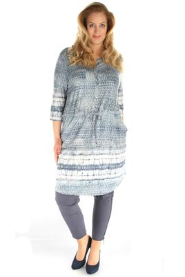 Jurk No-Secret tricot randdessin