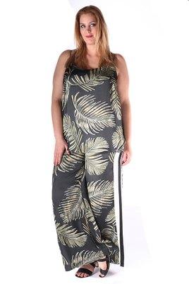 Broek Mat fashionprint met zijbies