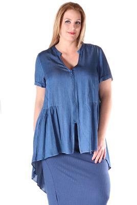 Blouse Mat fashion denim look