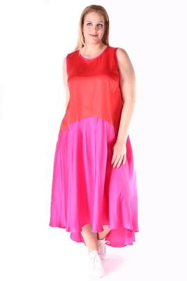 Jurk Mat fashion rood roze satijn