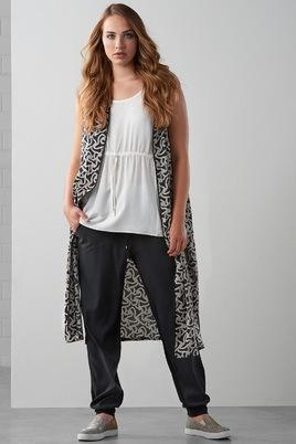 Vest Maxima fashion print mouwloos