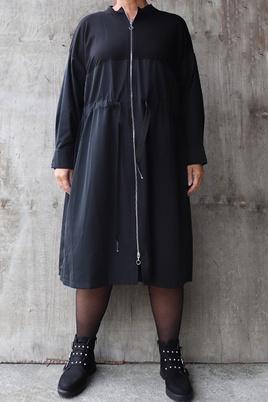 Tuniek Mat fashion rits combi stof