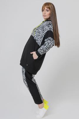 Mat fashion vest animal print combi