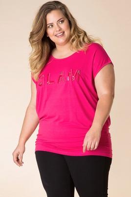 Shirt Yesta glitter opdruk voor
