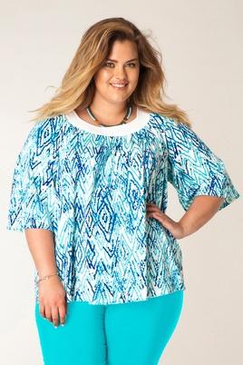 Shirt blauw print Yesta