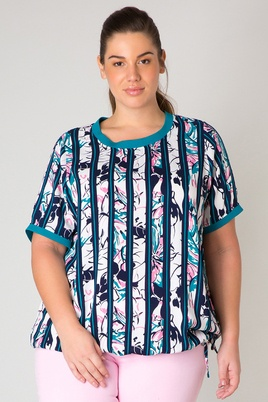 Shirt Yesta Juno streep bloem 78cm