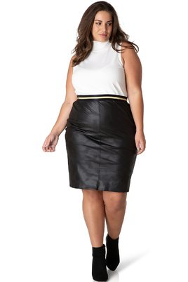 Rok Yesta leatherlook 65CM