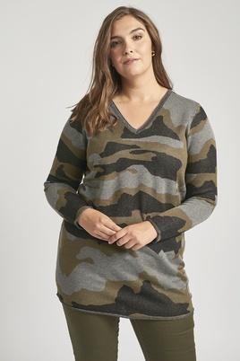 Trui Adia camouflage print