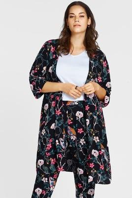 Jasje Zizzi Alberte kimono print