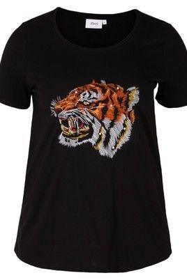 Shirt Zizzi Wild met leeuwenkop