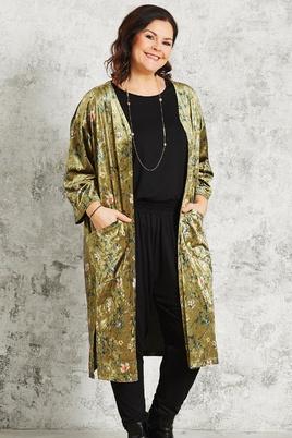 Vest Gozzip velour kimono look