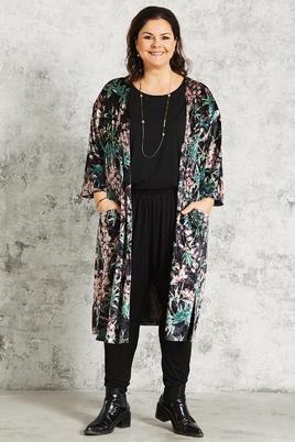 Vest Gozzip kimono look velour