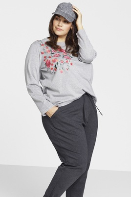 Trui Zizzi Atlanta sweater met bloem