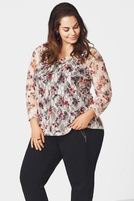 Shirt Zizzi Flowerlace vhals