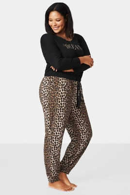 Broek Zizzi FOXY pyjama leopard