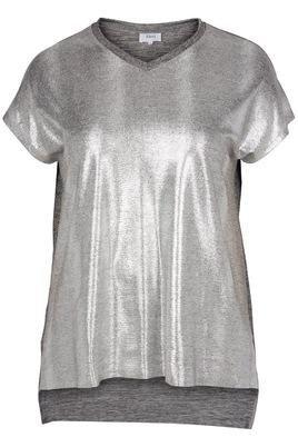 Shirt Zizzi zilverlook voorkant