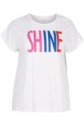 Shirt Zizzi OTara opdruk Shine