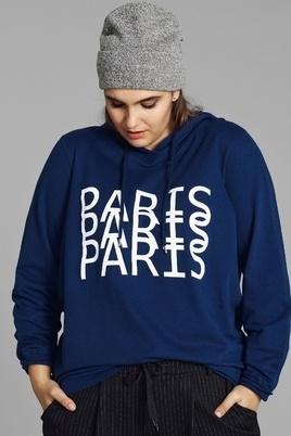 Sweater met tekst OTracy Zizzi