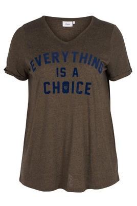 Shirt Zizzi tekst opdruk
