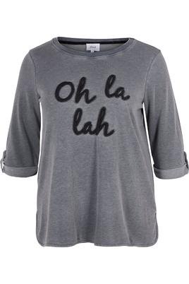 Shirt Zizzi sweat tekst opruk voor